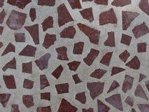 Τοίχος μωσαϊκών της καφετιάς πέτρας Στοκ εικόνα με δικαίωμα ελεύθερης χρήσης