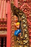 τοίχος ναών λεπτομέρειας της Καμπότζης Στοκ Φωτογραφία