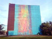 Τοίχος Ντιτρόιτ ραβδώσεων χρωμάτων Στοκ εικόνες με δικαίωμα ελεύθερης χρήσης