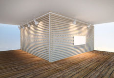 Τοίχος ξύλινα slats Στοκ εικόνα με δικαίωμα ελεύθερης χρήσης
