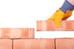 τοίχος οικοδόμησης τούβ&l Στοκ Φωτογραφίες