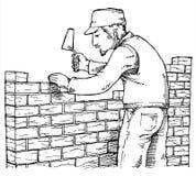 τοίχος οικοδόμησης ατόμων ελεύθερη απεικόνιση δικαιώματος
