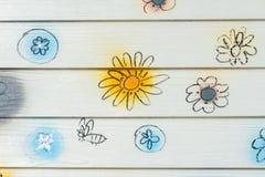 Τοίχος λουλουδιών Στοκ Εικόνα