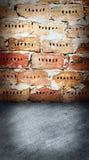 τοίχος πατωμάτων τούβλου Στοκ Εικόνα