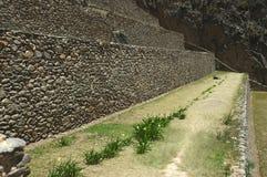 τοίχος πεζουλιών inkas Στοκ Εικόνες