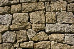 τοίχος πετρών γρανίτη Στοκ Φωτογραφία