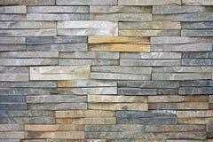 τοίχος πετρών πλακών Στοκ Φωτογραφίες