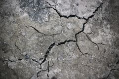 τοίχος πετρών ρωγμών Στοκ Φωτογραφία