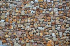 Τοίχος πετρών των φυσικών πετρών Στοκ Φωτογραφία