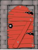 τοίχος πορτών ξύλινος Στοκ εικόνες με δικαίωμα ελεύθερης χρήσης