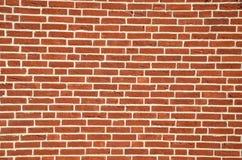 Τοίχος που γίνεται από τα κόκκινα τούβλα στοκ εικόνα