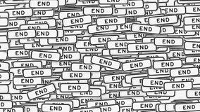 Τοίχος που καλύπτεται στα σημάδια κυκλοφορίας τελών ελεύθερη απεικόνιση δικαιώματος