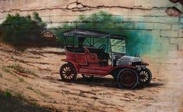 Τοίχος που χρωματίζει τη λεπτομέρεια Belgrave Βικτώρια Στοκ Εικόνες