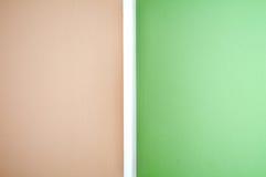 Τοίχος, πράσινος-καφετής Στοκ Εικόνες