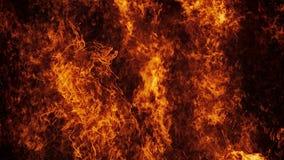 Τοίχος πυρκαγιάς κόλασης σε σε αργή κίνηση διανυσματική απεικόνιση