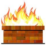 τοίχος πυρκαγιάς τούβλ&omicron Στοκ Εικόνες