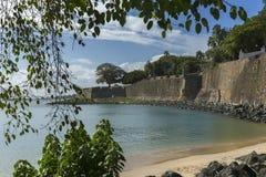 Τοίχος πόλεων και η ακτή κόλπων Στοκ Φωτογραφίες