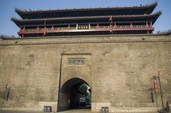 τοίχος πόλεων σε Xian Στοκ Εικόνα