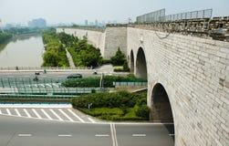 Τοίχος πόλεων Ming της πύλης του Ναντζίνγκ Zhonghua Στοκ Εικόνες