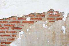 τοίχος ρωγμών τούβλου στοκ εικόνες