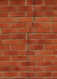 τοίχος ρωγμών Στοκ Φωτογραφίες