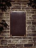 τοίχος σημαδιών μετάλλων &pi Στοκ Φωτογραφίες