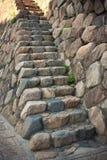 τοίχος σκαλοπατιών Στοκ Φωτογραφίες