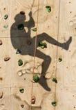 τοίχος σκιών βράχου Στοκ Φωτογραφίες