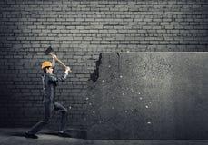 Τοίχος σπασιμάτων ατόμων μηχανικών Στοκ Εικόνες