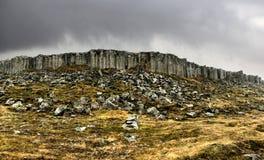 Τοίχος στηλών βασαλτών σε Gerduberg Ισλανδία Στοκ εικόνες με δικαίωμα ελεύθερης χρήσης