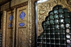 Τοίχος στοιχείων μέσα στο μουσουλμανικό τέμενος στοκ φωτογραφία με δικαίωμα ελεύθερης χρήσης
