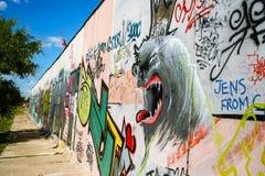 Τοίχος στοών ανατολικών πλευρών Στοκ Φωτογραφίες