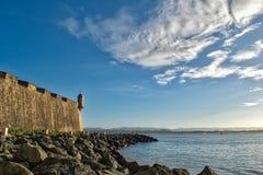 Τοίχος στο παλαιό San Juan Πουέρτο Ρίκο Στοκ Φωτογραφία