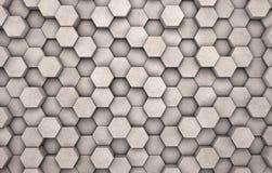 Τοίχος συγκεκριμένα hexagons Στοκ φωτογραφία με δικαίωμα ελεύθερης χρήσης