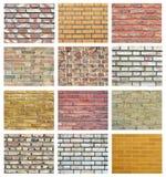 τοίχος συλλογής τούβλ&omic Στοκ Φωτογραφίες