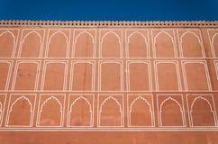 Τοίχος σχεδίων τέχνης στο παλάτι πόλεων, Jaipur Στοκ Φωτογραφία