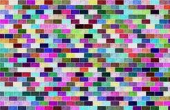 Τοίχος σύστασης τούβλου για πολύχρωμο οριζόντιο υποβάθρου απεικόνιση αποθεμάτων