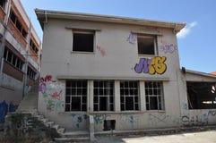Τοίχος τέχνης γκράφιτι στη Κύπρο Στοκ Εικόνες
