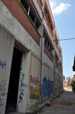 Τοίχος τέχνης γκράφιτι στη Κύπρο Στοκ Φωτογραφία