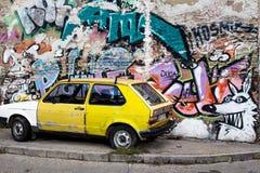 Τοίχος τέχνης γκράφιτι Στοκ Εικόνες