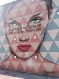 Τοίχος τέχνης Bronx Στοκ Φωτογραφία