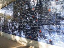 Τοίχος της αγάπης Παρίσι Στοκ Εικόνες