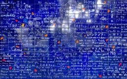 Τοίχος της αγάπης στο Παρίσι, Γαλλία Στοκ φωτογραφία με δικαίωμα ελεύθερης χρήσης