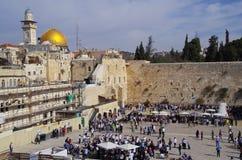 τοίχος της Ιερουσαλήμ δ Στοκ Φωτογραφία