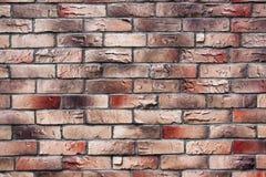 Τοίχος της κόκκινης και καφετιάς σύστασης τούβλου Στοκ φωτογραφία με δικαίωμα ελεύθερης χρήσης