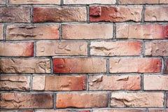 Τοίχος της κόκκινης και καφετιάς σύστασης τούβλου Στοκ Εικόνα