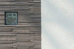 Τοίχος της πέτρας και του τσιμέντου Στοκ Φωτογραφία