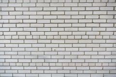 Τοίχος του άσπρου τούβλου Υπόβαθρο Στοκ Εικόνες