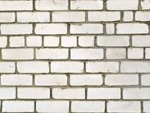 Τοίχος του άσπρου τούβλου Στοκ εικόνες με δικαίωμα ελεύθερης χρήσης