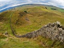 Τοίχος του Αδριανού στη βόρεια Αγγλία, UK Στοκ Φωτογραφία